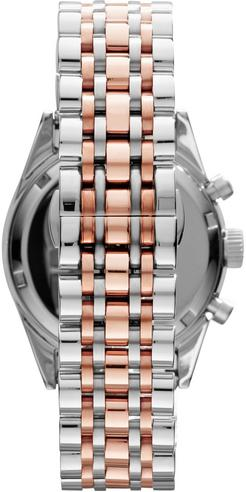 Emporio Armani Ladies' Sportivo Rose Gold & Silver Tone Designer Watch AR6010 Thumbnail 2