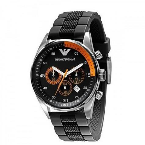 Emporio Armani Gent's Chronograph Black Stainless Steel Sports Watch AR5878 Thumbnail 2