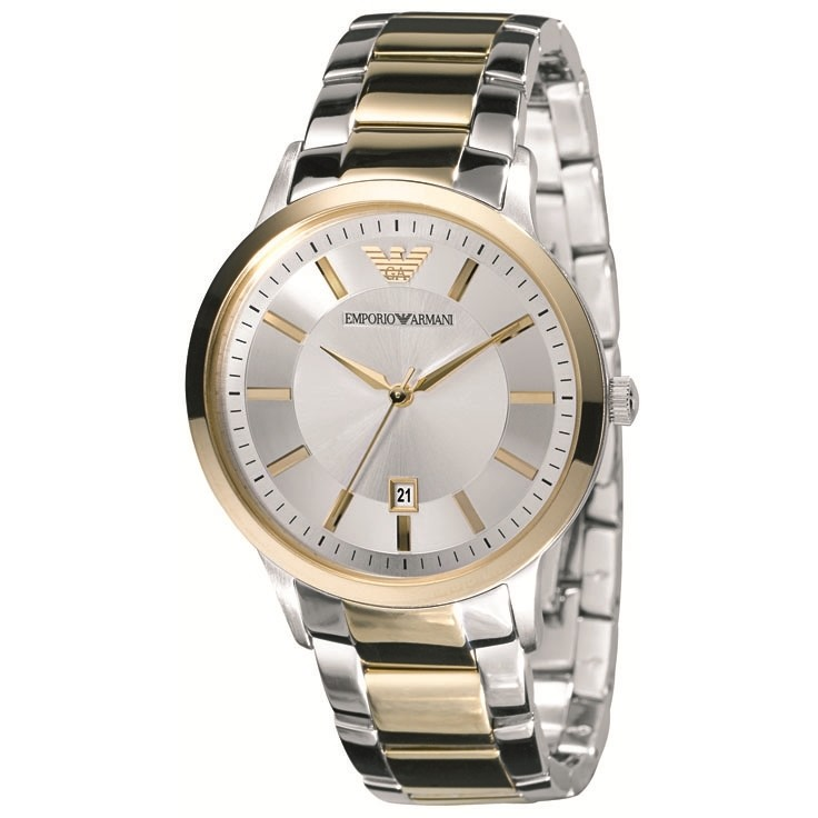 Emporio Armani Ladies' Gold & Silver Tone Stainless Steel Designer Watch AR2450