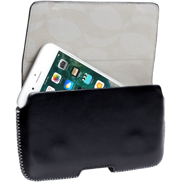 Genuine Krusell Hector 5XL Universal Leather Pouch Case In Black  - 95560