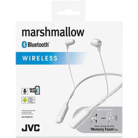 JVC Marshmallow In Ear Neckband Sports Wireless Bluetooth Headphones - White Thumbnail 2