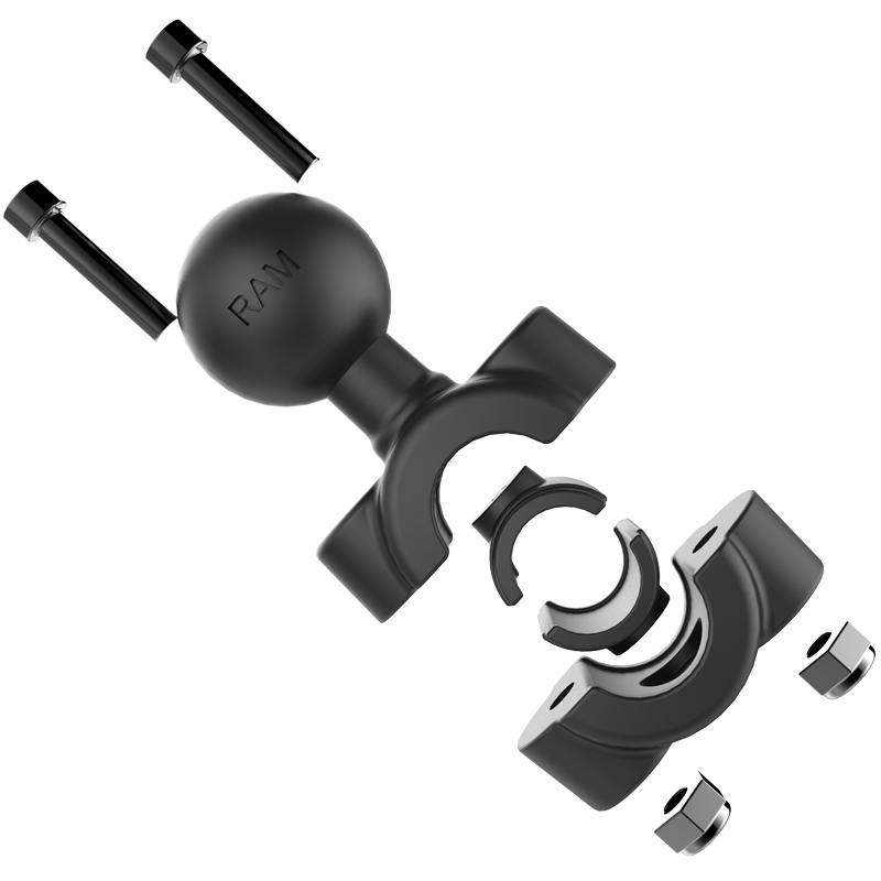 "Ram Mount Torque 3/8"" 5/8"" Diameter Mini Rail Base with 1"" Ball - RAM-B-408-37-6"