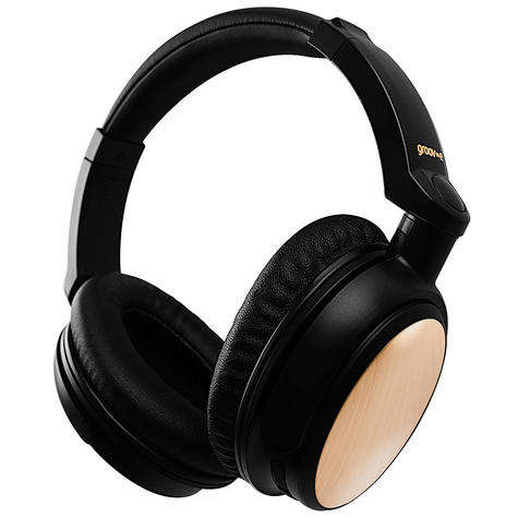 Groov-e GVBT700GD Ultra Wireless Bluetooth Stereo Headphones/Powerful Sound/Gold Thumbnail 1
