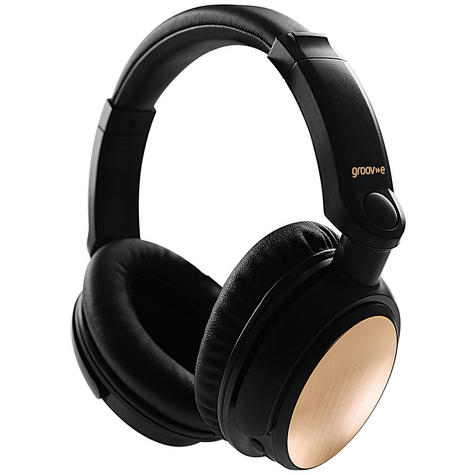Groov-e GVBT700GD Ultra Wireless Bluetooth Stereo Headphones/Powerful Sound/Gold Thumbnail 2