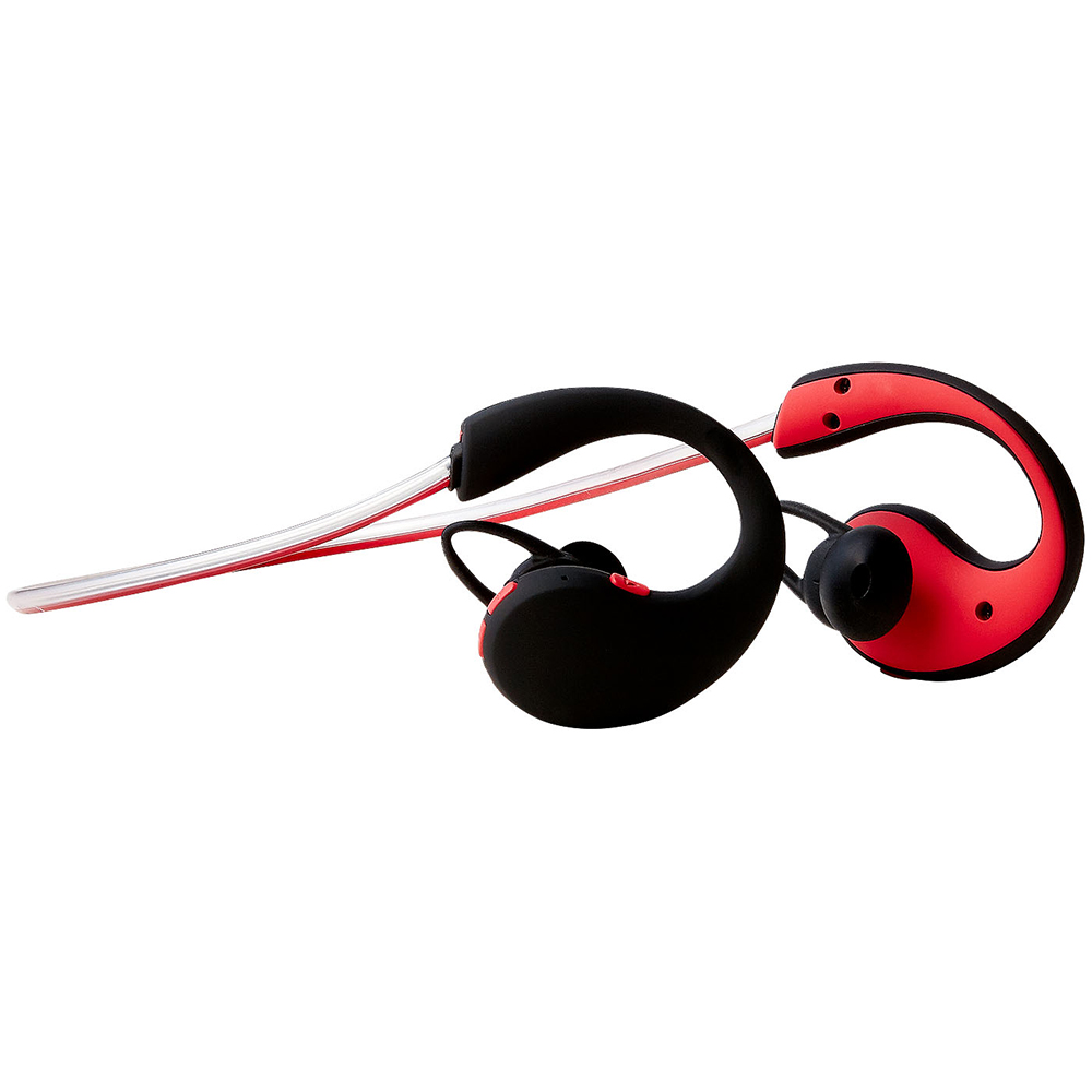 Groov-e GVBT800RD  Action Wireless Bluetooth Sports Headphone/LED Neckband/Red