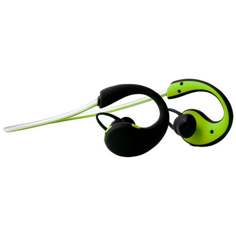 Groov-e GVBT800GN  Action Wireless Bluetooth Sports Headphone/LED Neckband/Green Thumbnail 1