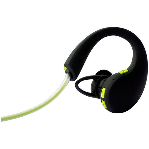 Groov-e GVBT800GN  Action Wireless Bluetooth Sports Headphone/LED Neckband/Green Thumbnail 2