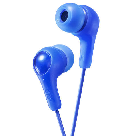 JVC HAFX7A Gumy Plus In Ear Headphone/3.5mm Connector/Nickel Plated Plug/Blue Thumbnail 1