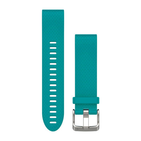 NEW Garmin 010-12491-11 Turquoise Quickfit Watch Band 20mm For Fenix 5S Thumbnail 1
