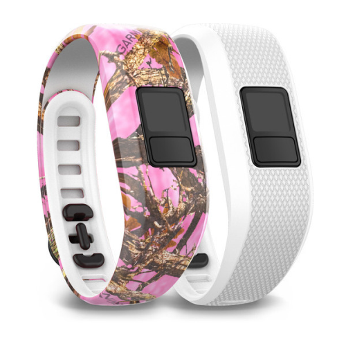 NEW Garmin 010-12452-32 Pink Camo & White Regular Band Straps For Vivofit 3