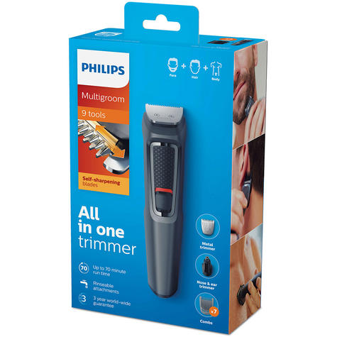 Philips 9 in 1 Multigroom?Face?Nose?Body?Hair?Trimmer Clipper Set?MG3747/13?NEW? Thumbnail 5