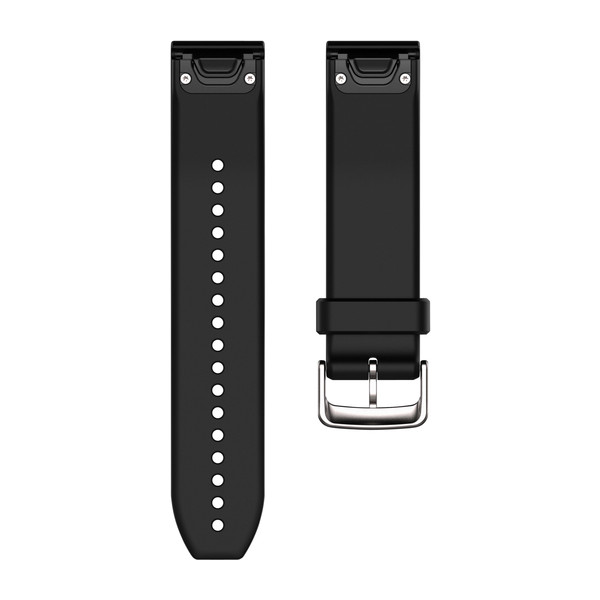 Garmin 010-12500-00 Quickfit Black/Silver Silicone Watch Band Approach S60/Fenix