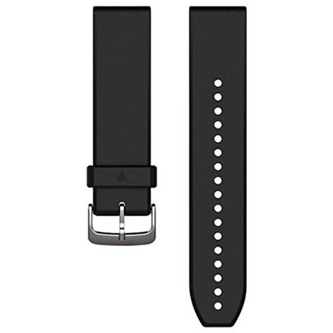 Garmin 010-12500-00 Quickfit Black/Silver Silicone Watch Band Approach S60/Fenix Thumbnail 3