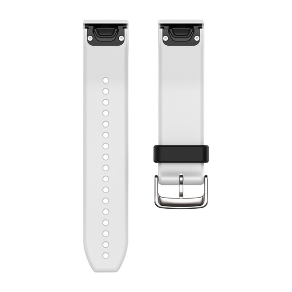 Garmin 010-12500-01 Quickfit White Silicone Watch Band For Approach S60/Fenix 5