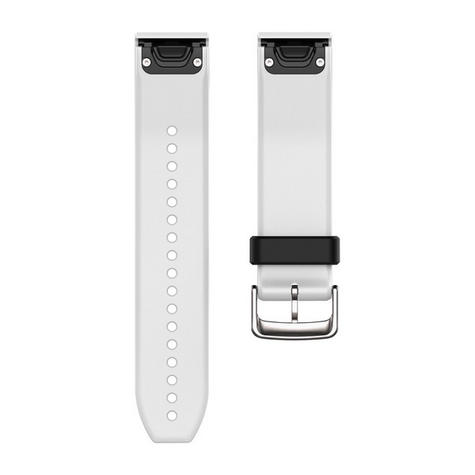 Garmin 010-12500-01 Quickfit White Silicone Watch Band For Approach S60/Fenix 5 Thumbnail 1