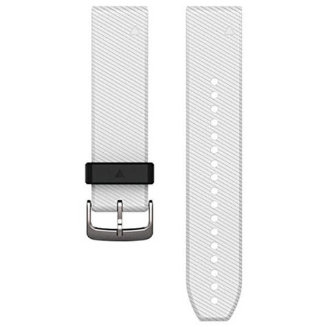 Garmin 010-12500-01 Quickfit White Silicone Watch Band For Approach S60/Fenix 5 Thumbnail 2