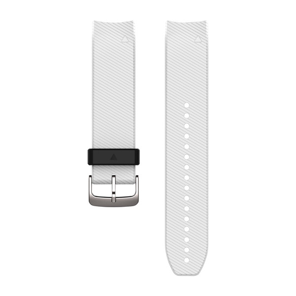 Garmin 010-12500-04 Quickfit Intergrated White Silicone Watch Band For Fenix 5