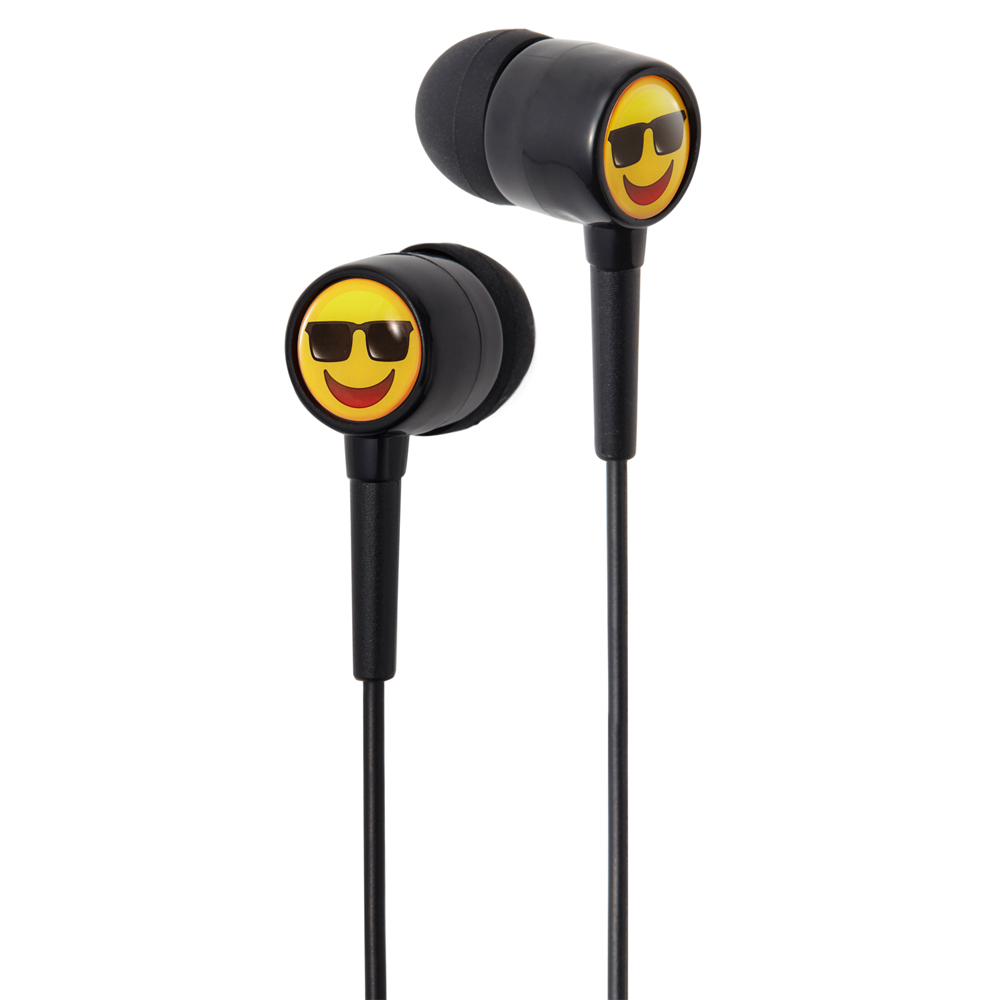 Groov-e GVEMJ25 EarMOJI's Stereo Earphones With New Cool Face/ Spare Earbuds