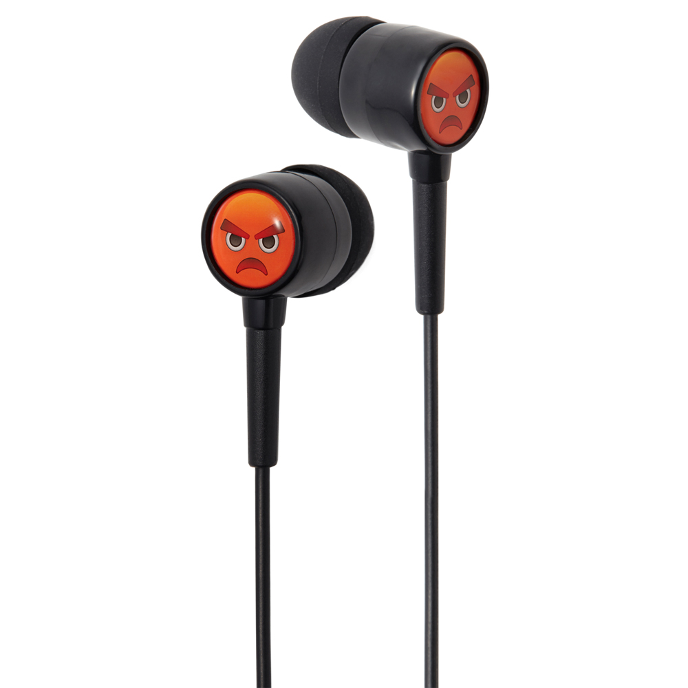 Groov-e GVEMJ26 EarMOJI's Stereo Earphones With New Angry Face / Spare Earbuds