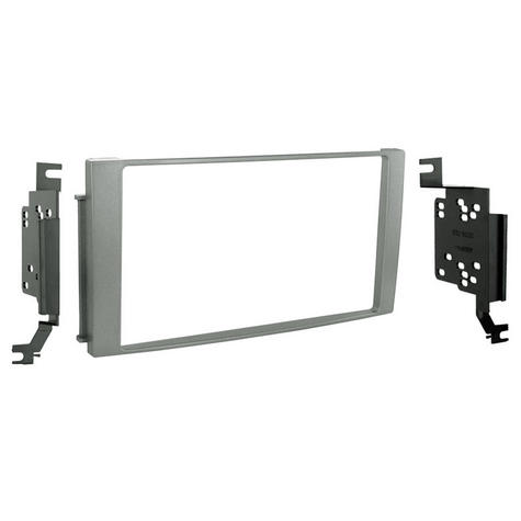 C2 24HY24 Silver Double Din Car Stereo Fascia Adaptor Plate For Hyundai Santa Fe Thumbnail 1