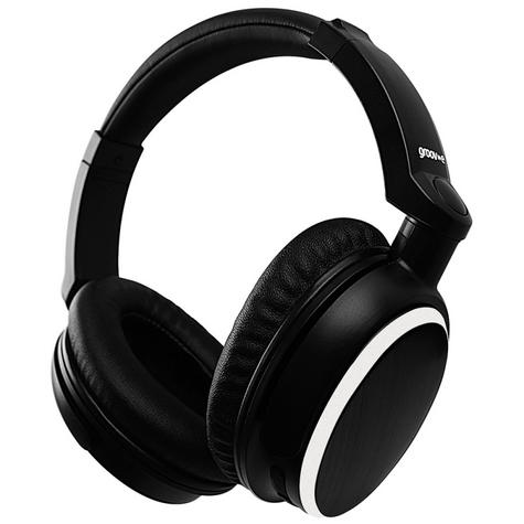 Groov-e GVBT700BK Ultra Wireless Bluetooth Stereo Headphone/Powerful Sound/Black Thumbnail 1