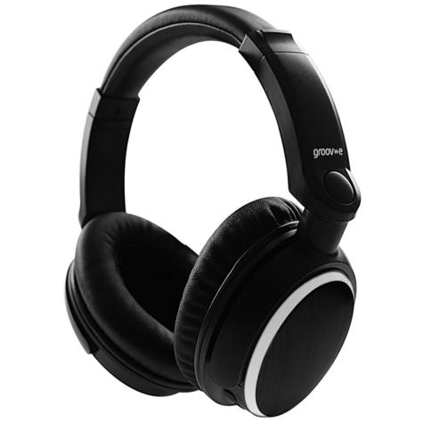 Groov-e GVBT700BK Ultra Wireless Bluetooth Stereo Headphone/Powerful Sound/Black Thumbnail 5