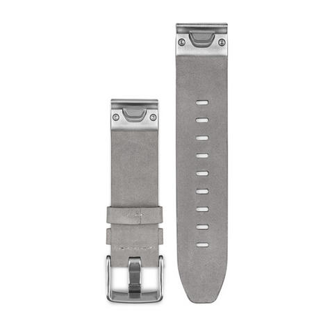 Garmin 010-12491-16|Quickfit Suede Band Strap|Leather-Gray|Fits Fenix5S Watch Thumbnail 3