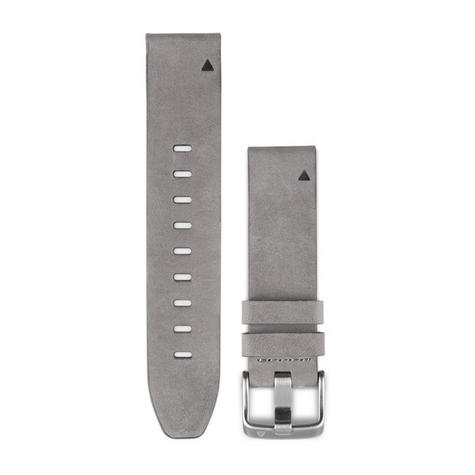 Garmin 010-12491-16 Quickfit Suede Band Strap Leather-Gray Fits Fenix5S Watch Thumbnail 2