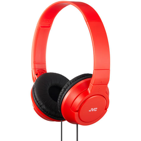 JVC HAS180RN Powerful & Deep Bass On Ear Headphones/Foldable/Lightweight/Red Thumbnail 1