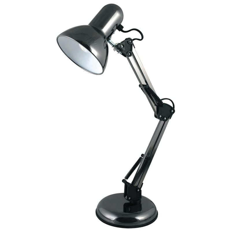 Lloytron L946BH Studio Poise Halogen Adjustable Hobby/Desk Lamp -Black Chrome