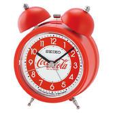 Seiko QHK905R Coca-Cola Arabic Numerals Bell Alarm Clock With Red Plastic Case