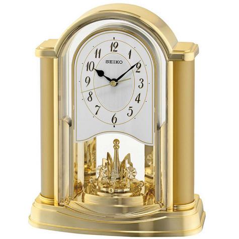 Seiko QXN228G New Rotating Pendulum Analogue Clock With Battery Operated - Gold Thumbnail 2