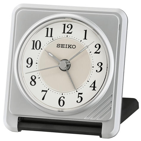 Seiko QHT016S Ascending Beep Alarm Clock With Light & Snooze Function - Silver Thumbnail 2