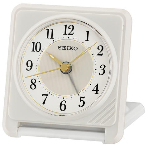 Seiko QHT016W Ascending Beep Alarm Clock With Light & Snooze Function - White Thumbnail 2