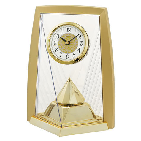 Seiko QXN231G One Way Rotating Pendulam Analogue Clock-Battery Operated- Gold Thumbnail 2