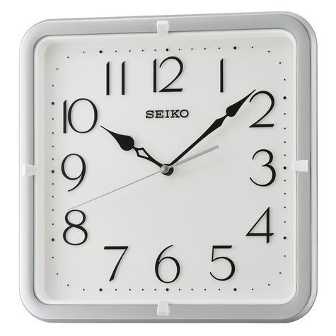 Seiko QXA685S Analogue Wall Clock|12 Hour Display|Square Shape|Silver Case Thumbnail 2