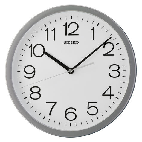 Seiko QXA693N Square Analogue Wall Clock-12 Hour Display With Grey Case Thumbnail 2