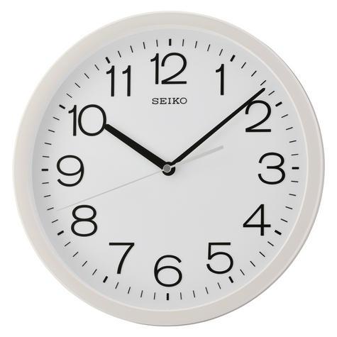 Seiko QXA693W Square Analogue Wall Clock-12 Hour Display With White Case Thumbnail 2