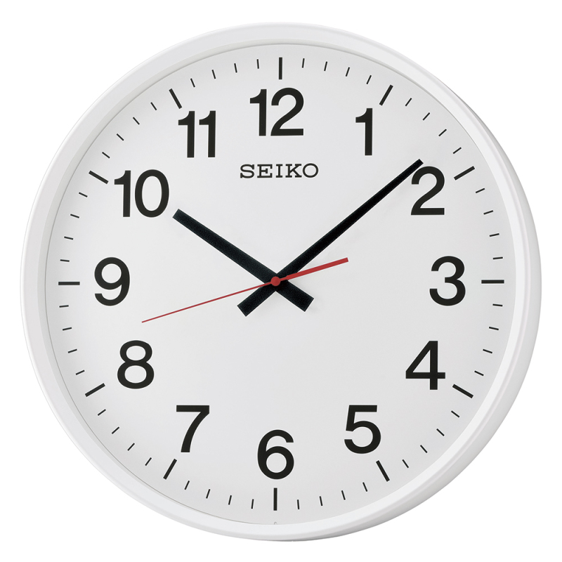 seiko qxa700w large size wall clock with arabic numerals sweep second hand white sustuu. Black Bedroom Furniture Sets. Home Design Ideas
