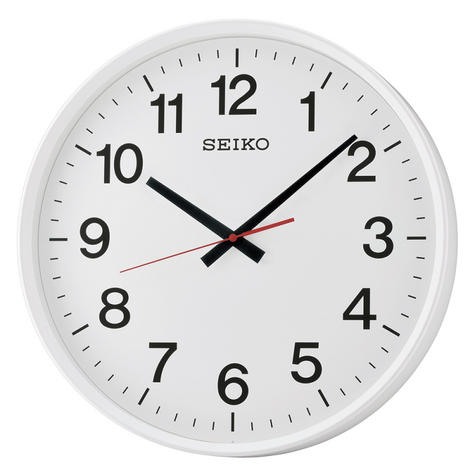 Seiko QXA700W Large Size Wall Clock With Arabic Numerals-Sweep Second Hand-White Thumbnail 2