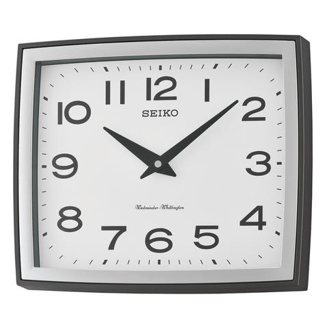 Seiko QXD211K Westminster/Whittington Dual Chime Arabic Wall Clock - Silver Case Thumbnail 2