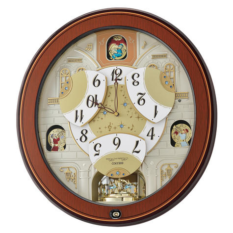 Seiko QXM368B Melody In Motion Analouge Wall Clock With Piano Finish Wooden Case Thumbnail 4