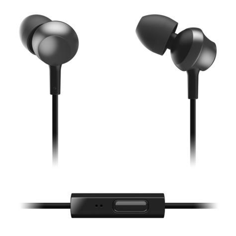 Panasonic RPTCM360EK  In-Ear 9.0mm Unit Headphones With Remote & Mic - Black Thumbnail 2