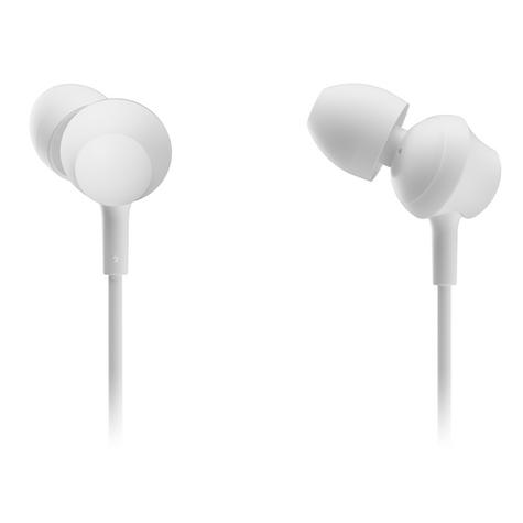 Panasonic RPTCM360EW  In-Ear 9.0mm Unit Headphones With Remote & Mic - White Thumbnail 3