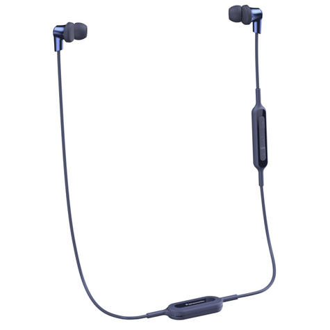 Panasonic RPNJ300BEA Wireless Ergo-Fit Bluetooth In Ear Buds Earphones-Blue-New Thumbnail 2