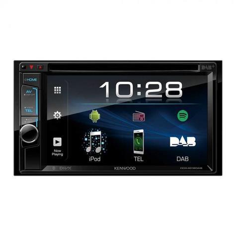 "Kenwood DDX 4018DAB Double Din 6.2"" Car Stereo DVD/Bluetooth/Usb & DAB + Radio Thumbnail 3"