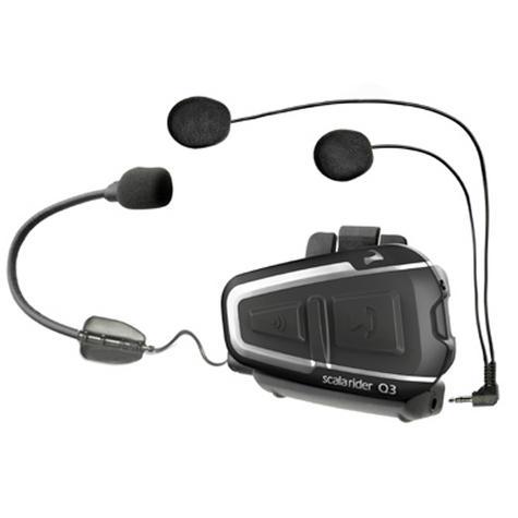 Cardo Scala Rider Q3 Solo Bluetooth Headset |  Motorcycle / Bike Helmet Intercom |  Black Thumbnail 2