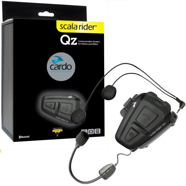 Cardo Scala Rider Qz Bluetooth Motorcycle Helmet Headset & GPS MP3 Connection