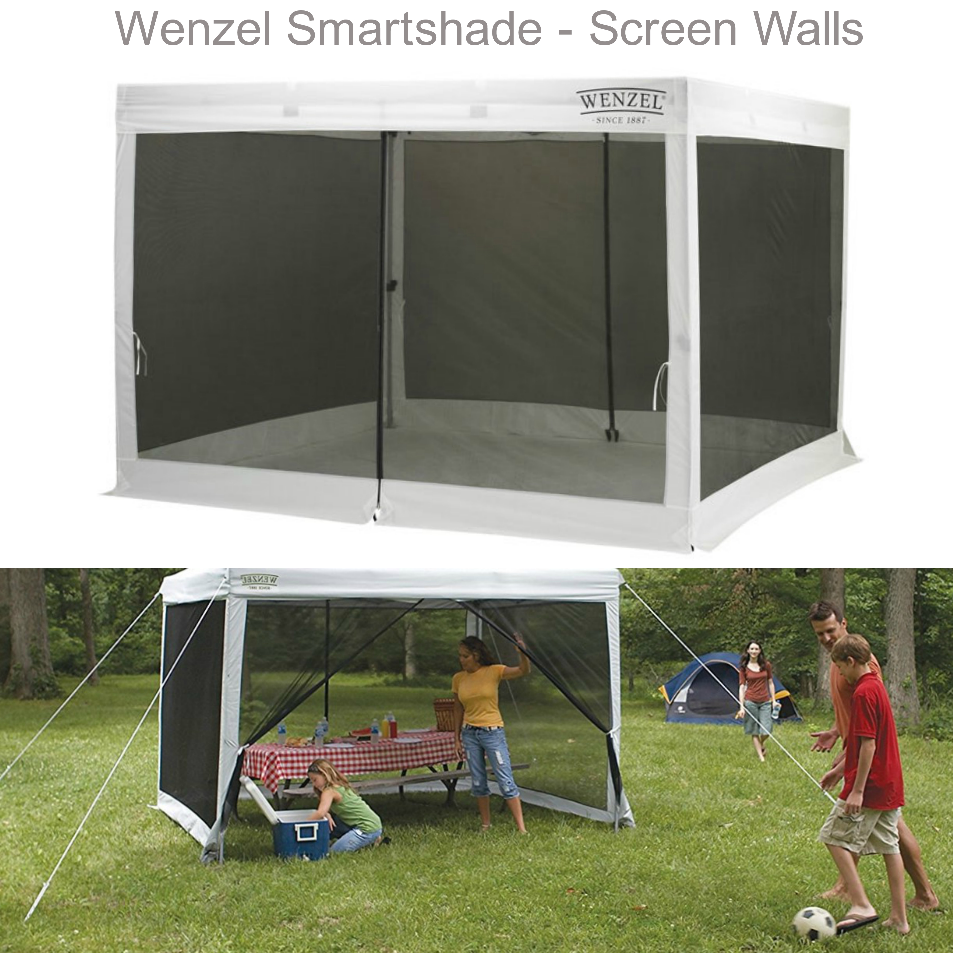 NEW Wenzel Strong Polyester SmartShade Screen Walls Insects Protector 861-33049