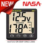 NEW NASA Marine 523-BM1-24 Battery Monitor Instrument - 24VDC - 1 Year Warranty